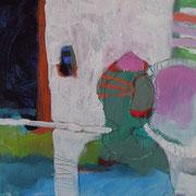 """""""Frau"""", 2016, Acryl auf Leinwand, 21,5 x 21,5 cm"""