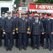 Members of FFD in attendance at Fanwood's Memorial Day Service at the Library