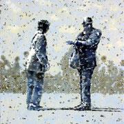 """Unter Beobachtung"", 2013, Öl auf Leinwand, 75 x 70 cm"