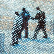"""""""Die Festnahme"""", 2010, Öl auf Leinwand, 75 x 70 cm"""