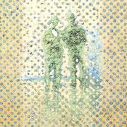 """""""Die Übergabe"""", 2007, Öl auf Leinwand, 75 x 70 cm"""