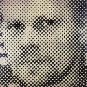 """""""Selbstporträt"""", 2001, Linolschnitt auf Leinwand, 240 x 240 cm (12-teilig)"""