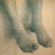 """Selbstbildnis/Füße"", 2006, Linolschnitt auf Leinwand, 240 x 240 cm (12-teilig)"
