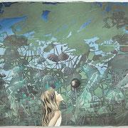Die schöne Katrinelje und Pif Paf Poltrie  Öl und Acryl auf Leinwand 80 x 100 cm, 2014