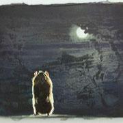 Ballade in U-Dur  Öl und Acryl auf Leinwand 30 x 40 cm, 2014
