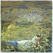 Das arbeitsscheue Glück  Öl und Acryl auf Leinwand 80 x 80 cm, 2014