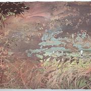 Der Reußenstein  Öl und Acryl auf Leinwand 80 x 100 cm, 2014