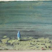 Das alizarinblaue Zwerglein  Öl und Acryl auf Leinwand 30 x 40 cm, 2014