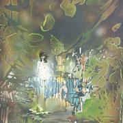 Mathilda und der Nachtmahr  Öl und Acryl auf Leinwand 80 x 60 cm, 2013