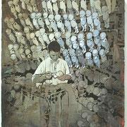 Der Riese Mutakirorikatum  Öl und Acryl auf Leinwand 70 x 60 cm, 2014