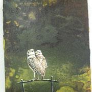 Hühniken und Hähniken  Öl und Acryl auf Leinwand 30 x 24 cm, 2014
