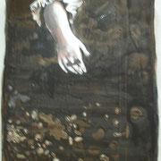 Eine zweite Reise nach dem Monde  Öl und Acryl auf Leinwand 30 x 24 cm, 2014