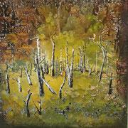Septembermorgen  Öl und Acryl auf Leinwand 140 x 140 cm, 2014