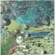 Urian´s Reise um die Welt  Öl und Acryl auf Leinwand 80 x 80 cm, 2014