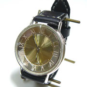 """JUM116SV """"GRANDAD-SV"""" 約43mm  ローマ数字 手縫ベルト ¥33,000(消費税別) (アラビア数字も可能)"""