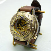 "BHW061  JUMBOサイズ(約42mm) ""GUN BOAT-BHW"" 手縫ベルト BR ¥30,000(消費税別)"