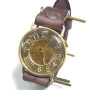 """JUM30 """"S-WATCH-JB1"""" アラビア数字 BR  ¥18,000(消費税別) (ローマ数字も可能です)"""