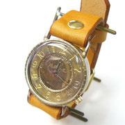 """JUM30 """"S-WATCH-JB1"""" アラビア数字 キャメル  ¥18,000 (消費税別) (ローマ数字も可能です)"""