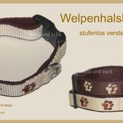 Welpenhalsbänder - stufenlos verstellbar