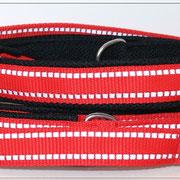 Oder eine Seite schlichtes Gurtband, andere Seite mit Reflexgurtband - oder zweifarbig ... oder...