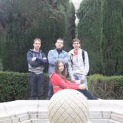 Парк у королевского дворца в Мадриде