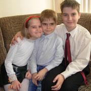 Семенковы Витя, Лиза, Алеша