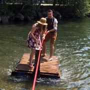 Sonderprüfungen: Überfahrt mit dem Floß  Burkl Daniel und Müller Sophie