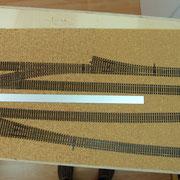 Vorne Gleise für Personenzüge, hinten für Güterverkehr