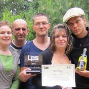 L'équipe de Braizat, lauréate de la plus belle étiquette