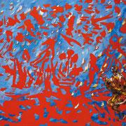 Roman Scheidl, Einbruch der Zeit, Öl / Leinwand, 143x167cm, 2012