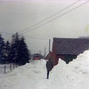 Schneesturm auf dem Schockland 1979