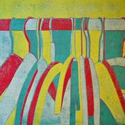 Kleiderbügel gelb-grün-rot-weiß  60,3 x 45,2 cm