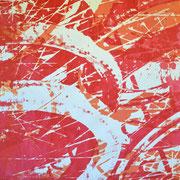Fahrradreifen rot-weiß  93 x 65 cm