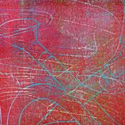 Gießkannen rot-blau  19,5 x 14,9 cm