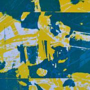 Wasserhähne und gelbe Fahrradreifen  82,8 x 40 cm