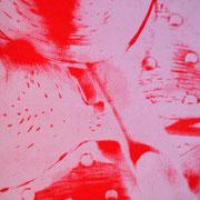 Durchschlag weiß-rot  17,3 x 12,3 cm