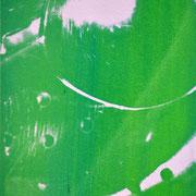 Durchschlag grün-weiß  17,2 x 12 cm