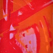 Durchschlag rot-orange-weiß  17,2 x 12,4 cm