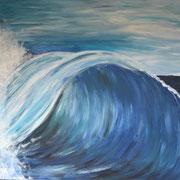Welle, Acryl auf Leinwand,  50 x 60 cm