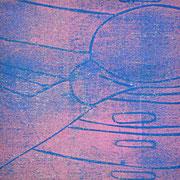 Gießkannen blau-rosa  13,1 x 12,8 cm
