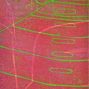 Gießkannen rot-grün  15,9 x 12,1 cm