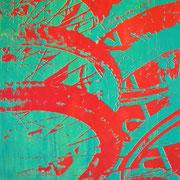 Fahrradreifen rot-grün  93 x 65 cm