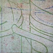 Gießkannen weiß-grün  17,2 x 12,4 cm