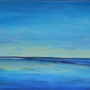 Licht am Horizont, Acryl auf Leinwand, 20 x 60 cm