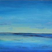 Licht am Horizont, Acryl auf Leinwand, 20 x 60 cm - verkauft