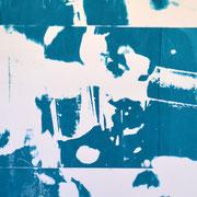 Wasserhähne blau und weiß  82,8 x 40 cm
