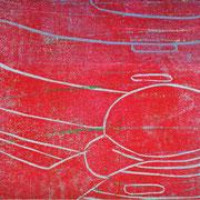 Gießkannen rot-weiß  23,4 x 19,4 cm