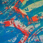 Fahrradreifen blau-rot weiß  93 x 65 cm