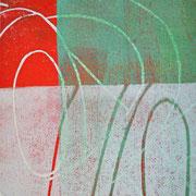 Gießkannen rot-grün-weiß  16 x 12,5 cm
