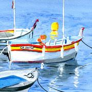 "Jean-Pierre Beillard - "" Barque"" Aquarelle 20x30"